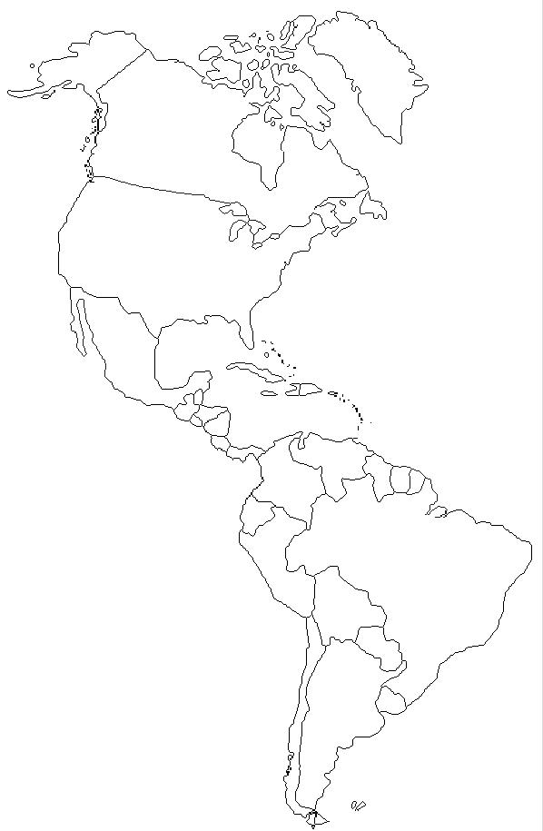 Carte Amerique Latine A Remplir.Cartes Et Information Sur L Amerique Amerique Du Nord Du