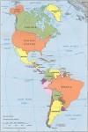 carte complète des pays d'Amérique