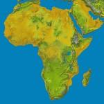 carte du relief africain