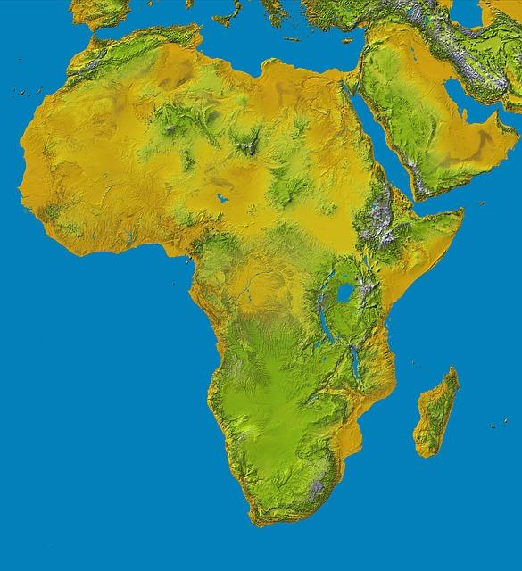 Carte Afrique Du Sud Ouest.Cartes De L Afrique Et Information Sur Le Continent Africain