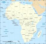 carte des pays d'Afrique