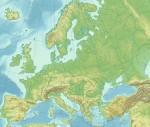carte en relief Europe
