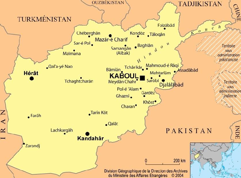 Afghanistan : cartes et présentation du pays