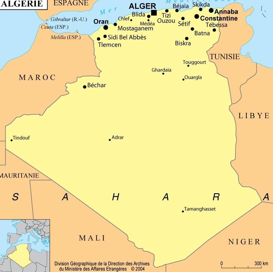Kabylie Carte Geographique.Algerie Toutes Les Informations Et Cartes Sur Le Pays