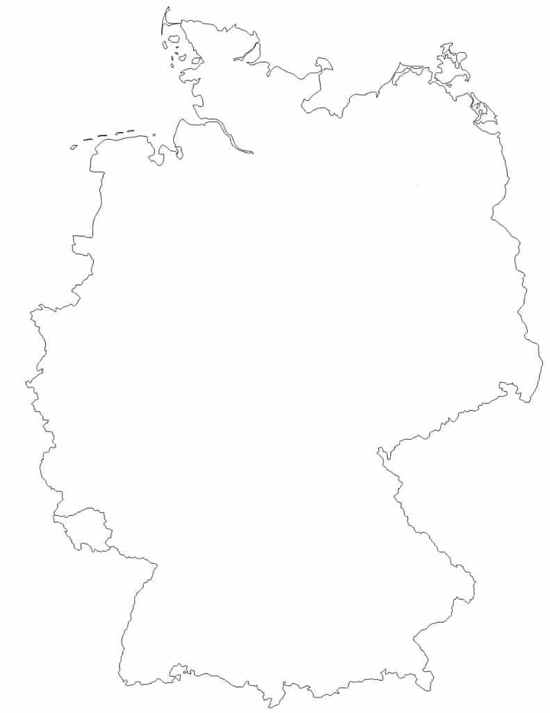 Carte Allemagne Vierge Villes.Allemagne Cartes Et Informations Sur Le Pays