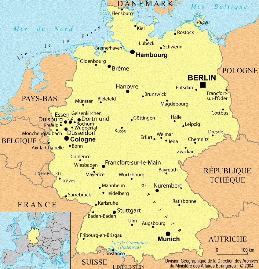 Carte Du Monde Allemagne.Allemagne Cartes Et Informations Sur Le Pays