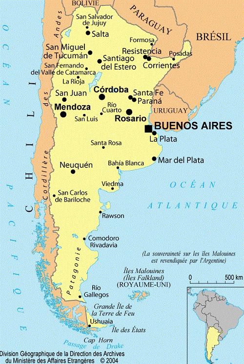 Argentine : informations géographiques et cartes