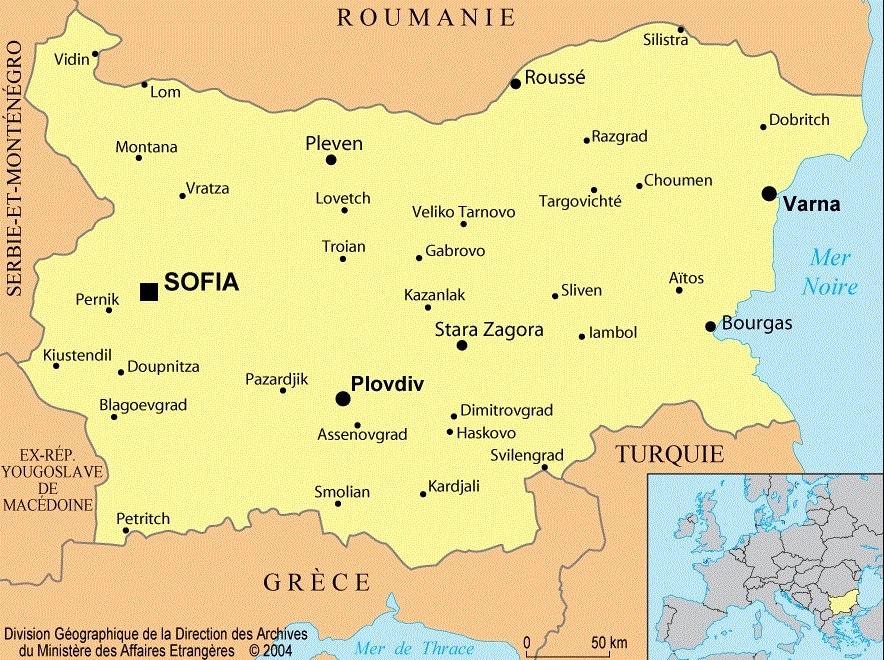 Bulgarie : informations sur le pays, cartes et drapeau