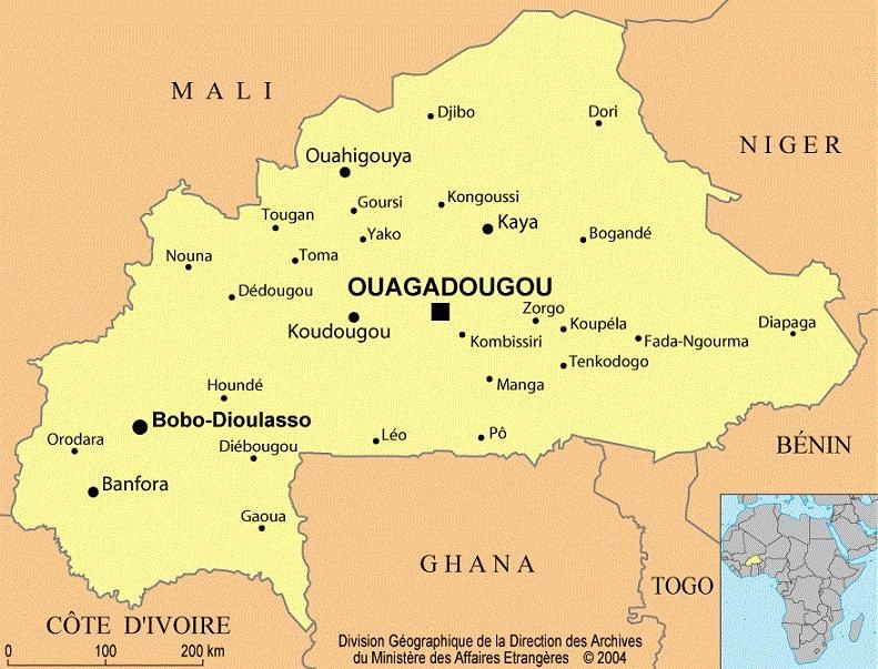 Carte Afrique Burkina Faso.Burkina Faso Informations Geographiques Et Cartes