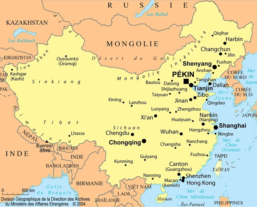 Top Chine : cartes et informations sur le pays BA62