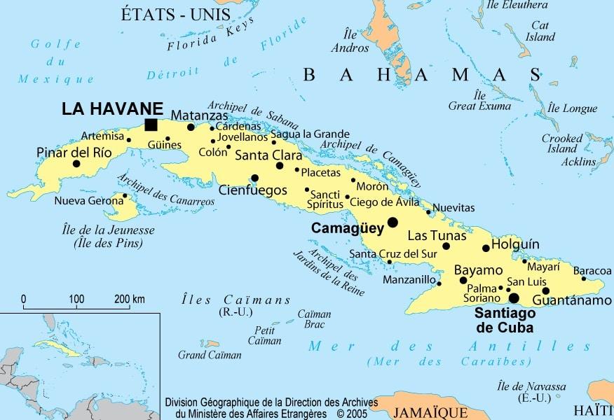 Carte Cuba Monde.Cuba Informations Geographiques Et Cartes
