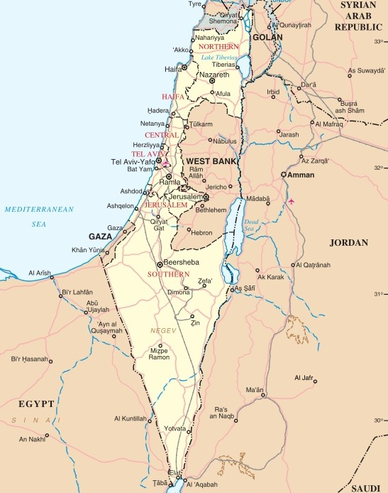 israel-carte-monde - Photos