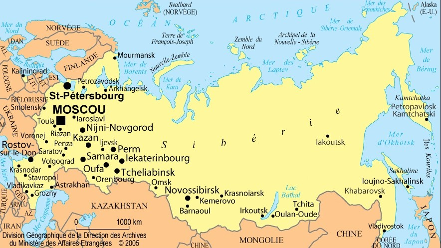 russie-sur-la-carte-du-monde - Photo