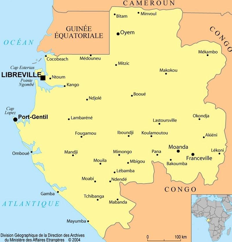 Informations et cartes sur le Gabon