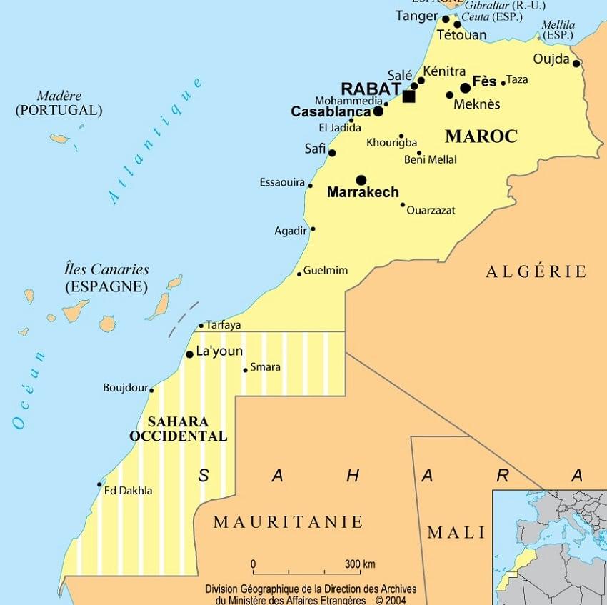 maroc-carte-du-monde - Photo