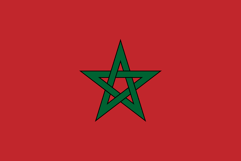 Maroc cartes informations et drapeau du pays - Drapeau du maroc a imprimer ...
