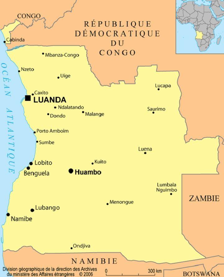 angola-carte-du-monde - Photo