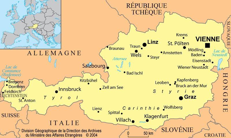 Carte Europe Vienne.Autriche Informations Sur Le Pays Cartes Et Drapeau