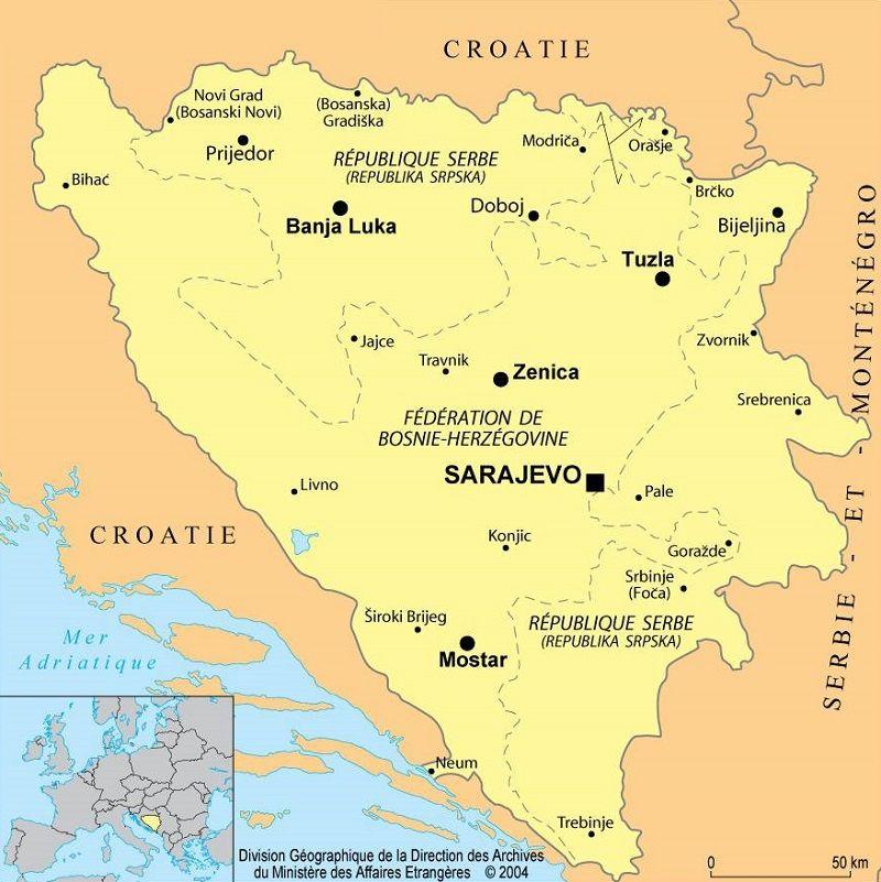 Carte Altitude Croatie.Cartes De La Bosnie Herzegovine Et Informations Sur Le Pays