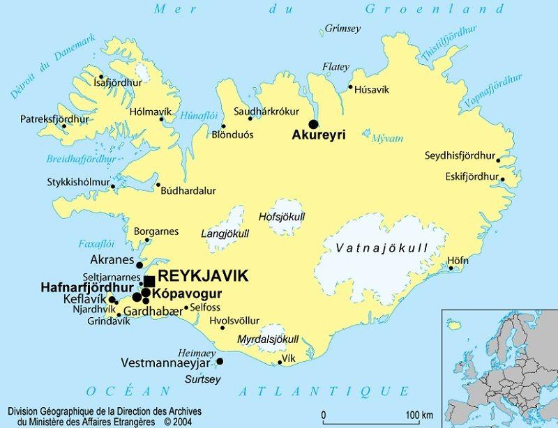 ou se trouve l islande sur la carte du monde Islande : cartes, informations pratiques et drapeau national