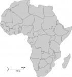 carte vierge Afrique