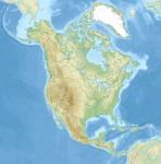 carte relief Amérique Nord