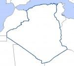 carte vierge Algérie