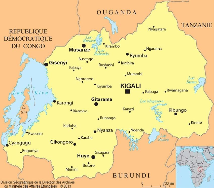 Rwanda Toutes Les Informations Et Cartes Sur Le Pays