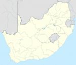 carte vierge de l'Afrique du Sud