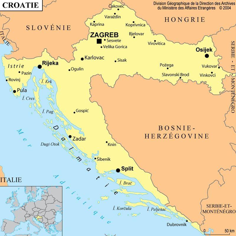 capitale de croatie